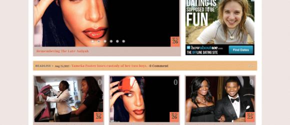 African American Celebrity Blog Design
