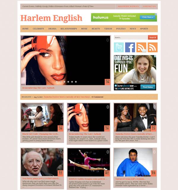 Magazine styled current events blog design