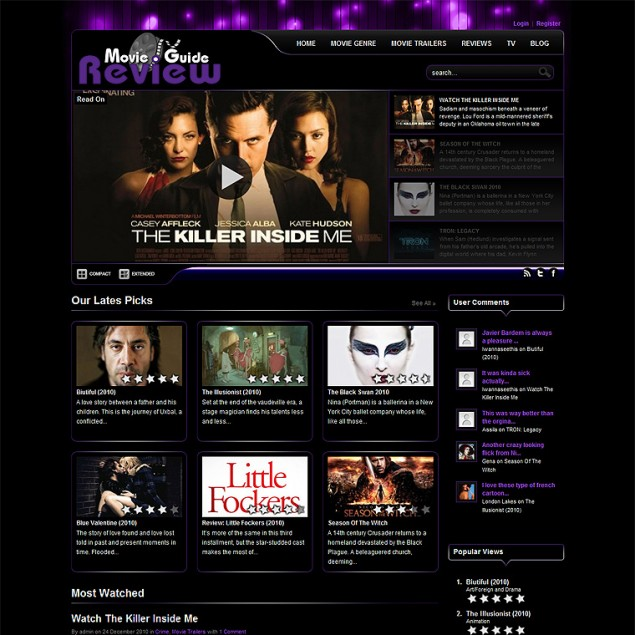MovieGuideReview.com (redesign)