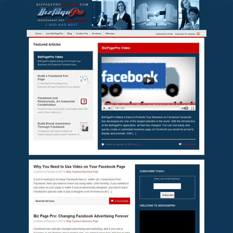 Corporate blog design project