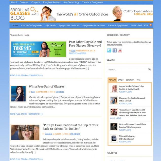 Online Optical Blog Design