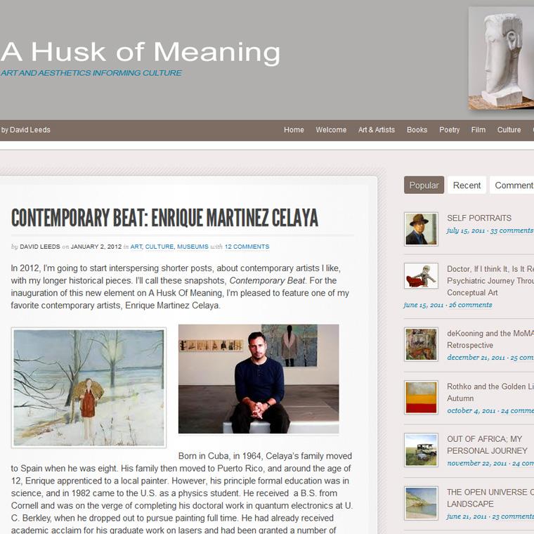 Artist Blog Design