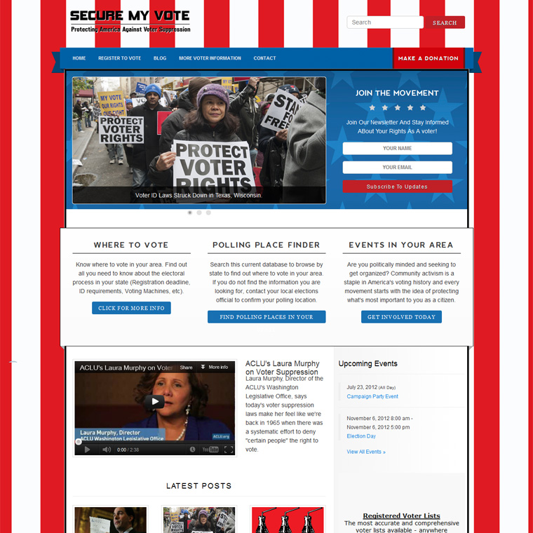 Political Styled Web Design