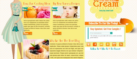orange cream free psd template