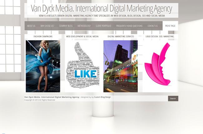 Interactive Media WordPress Blog Design