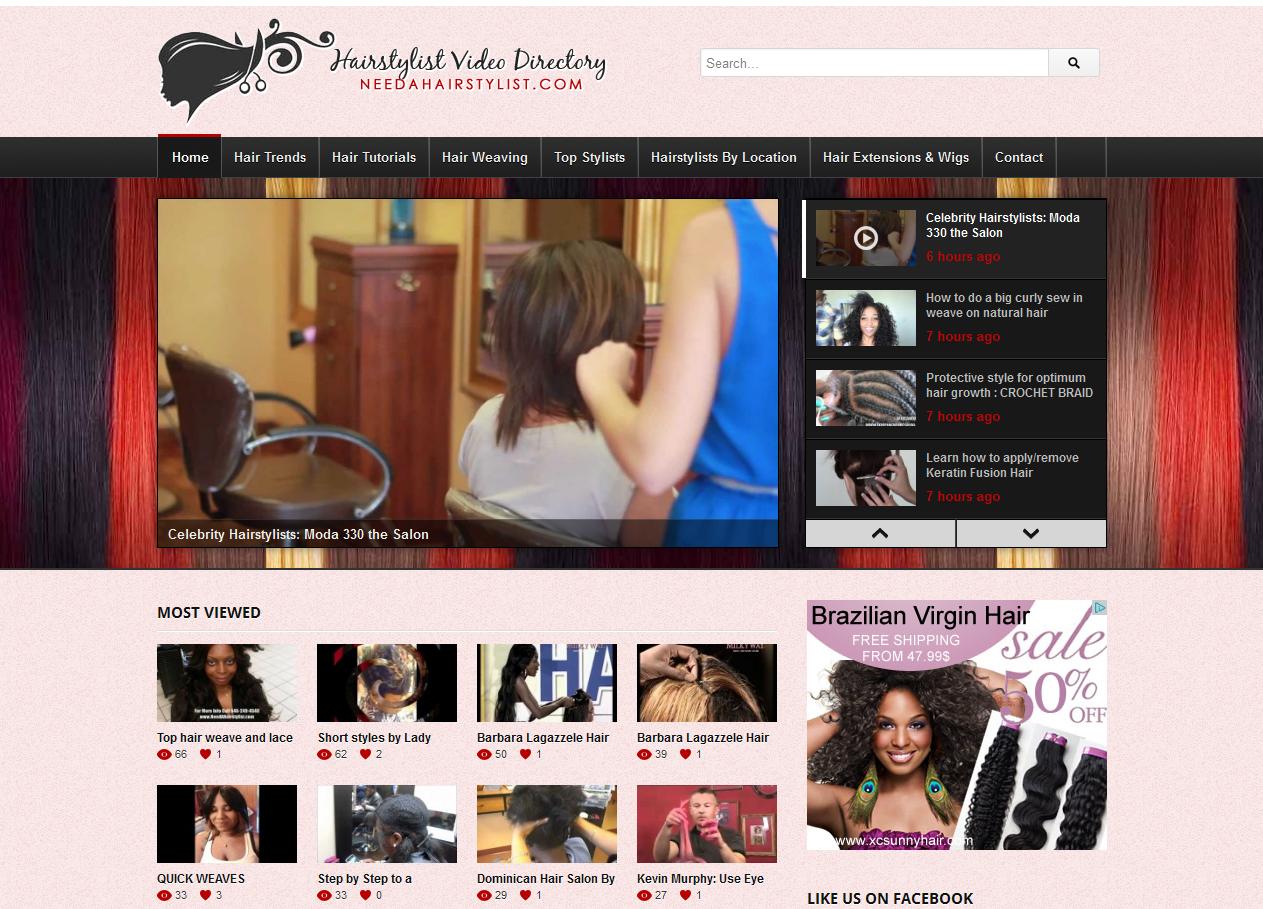 Hairstylist video blog design