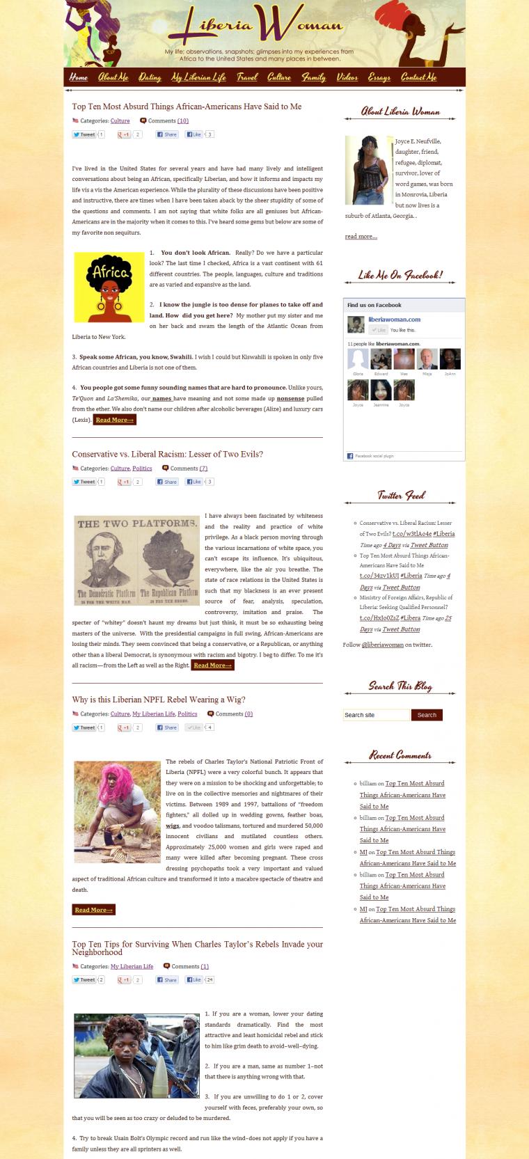 Cultural Blog Design