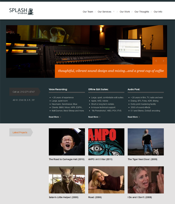 Sound Studio Blog Design