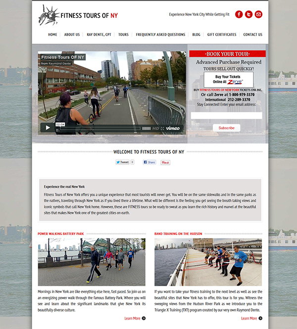Fitness Tours Of NY