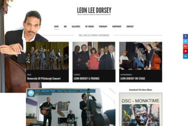 Jazz Musican Website Design