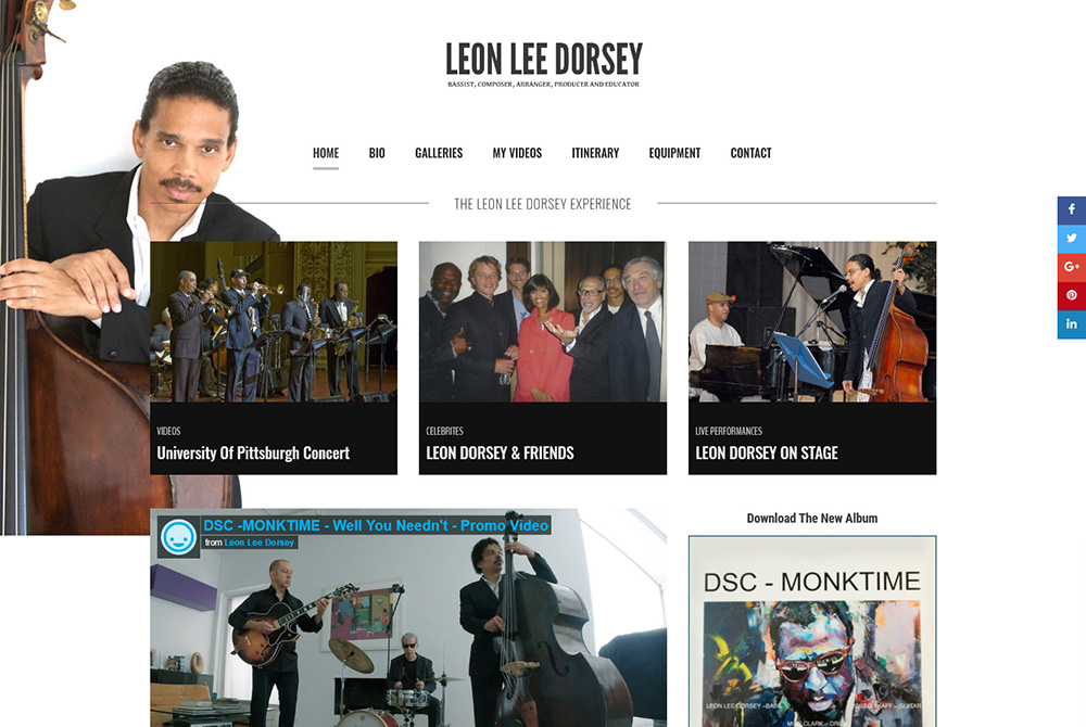 Jazz Musican Website Design